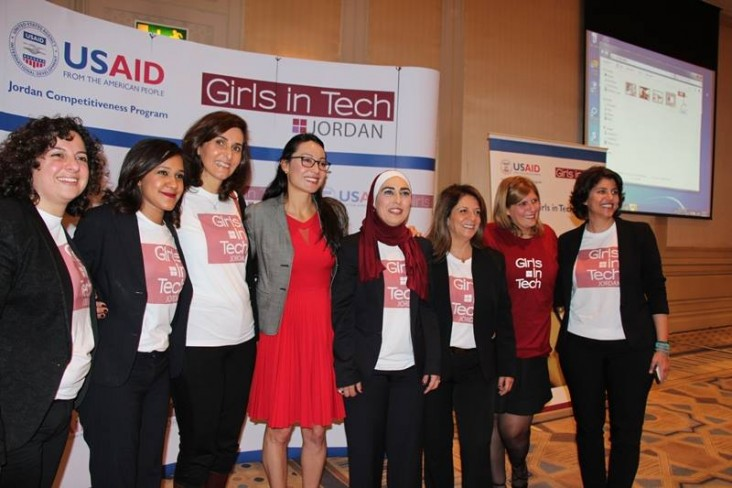 USAID implements gender-based programs across all sectors. In 2015, USAID supported the launch of Girls in Tech's Jordan chapter