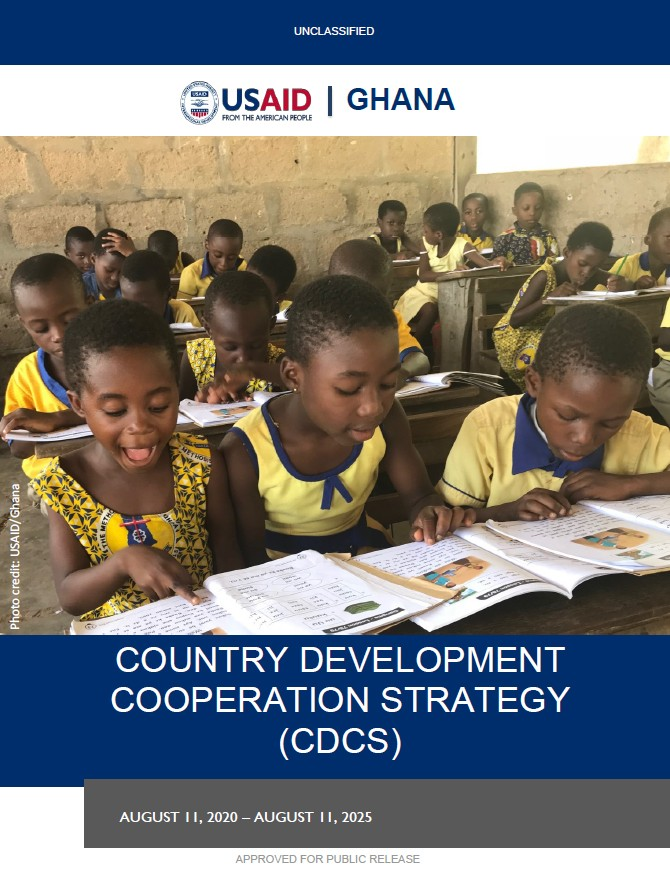 Cover page of Ghana's CDCS