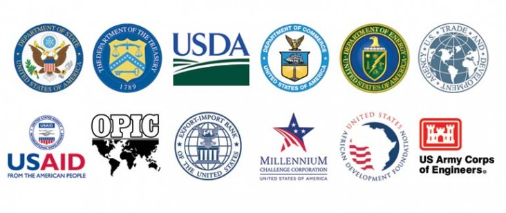 US Government Agencies: USAID, DOS, DOT, DOE, DOC, Export Import Bank, US Trade, OPIC, US African Dev. Foundation, Millenium Cha