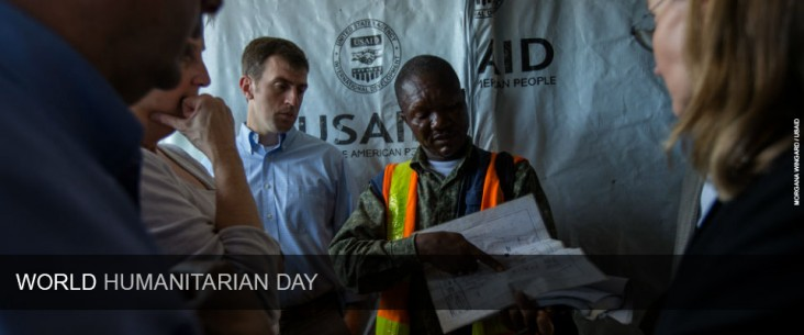 World Humanitarian Day: Visiting a construction site for a new Ebola Treatment Unit in front of the former Ministry of Defense