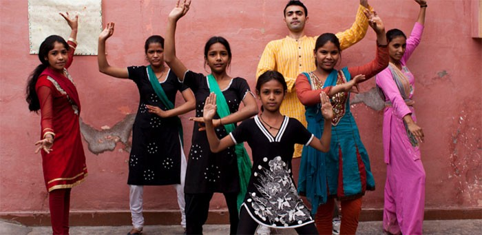 """Children of sex workers in the Perna community declare """"AIDS Will Not Stop Our Dance."""""""
