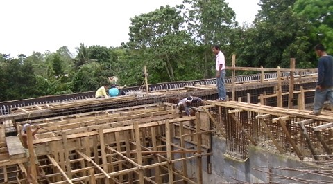 A construction site for the water storage reservoir in Puerto Princesa City Water District built through the PWRF