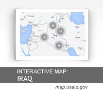 Interactive Map:  Iraq map.usaid.gov
