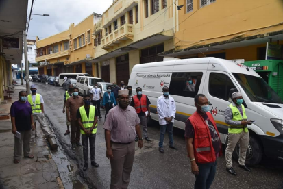 Mobile dispensing of methadone for medically assisted therapy clients in Old Town Mombasa during lockdown