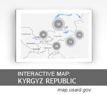Interactive Map: Kyrgyz Republic map.usaid.gov