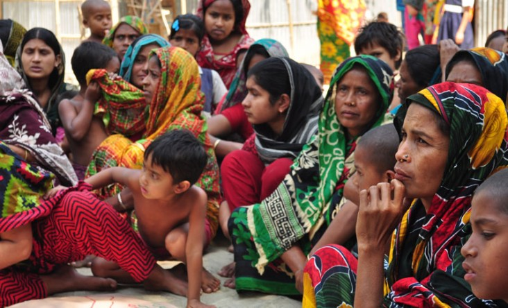 A community action group in Lakhai Upazila, Bangladesh, meets monthly to discuss health concerns around pregnancy.
