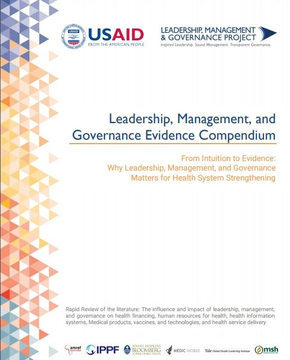 Cover of Leadership, Management, and Governance Evidence Compendium