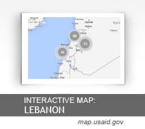 Interactive Map:  Lebanon map.usaid.gov
