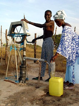 A new village water pump