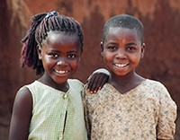 Photo of two girls in Malawi