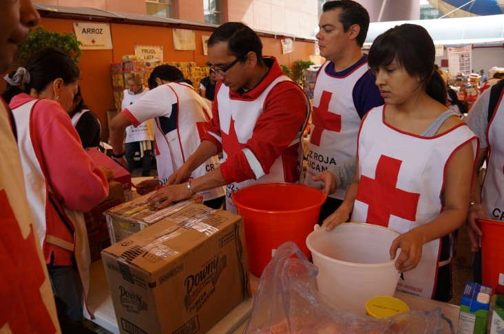 USAID/OFDA partnered with the Mexican Red Cross (MRC) to distribute emergency relief commodities to storm-affected populations f