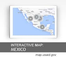 Interactive Map:  Mexico map.usaid.gov