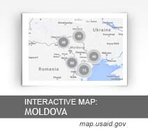 Interactive Map:  Moldova map.usaid.gov