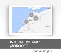 Interactive Map:  Morocco map.usaid.gov