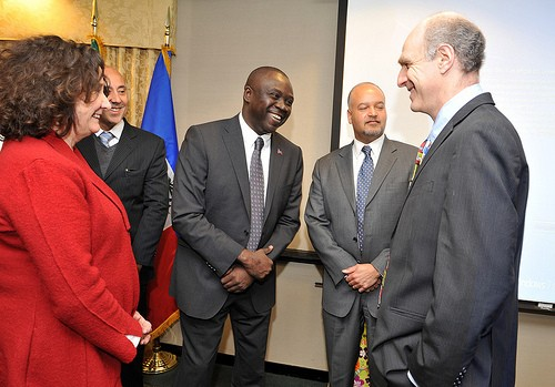 US, Haiti and Brazilian Government representatives.