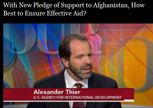 J. Alex Thier on PBS Newshour