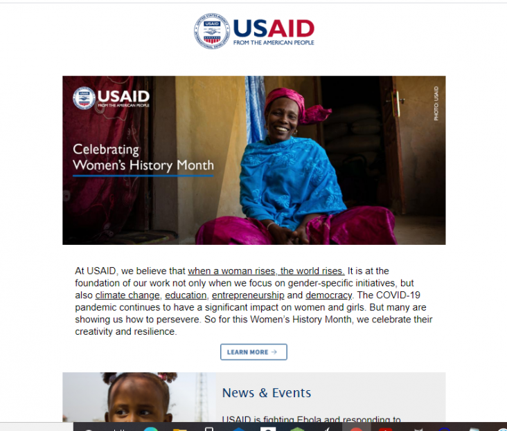 Click to view the March 2021 USAID Newsletter