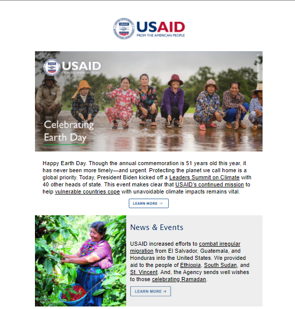 Click to view the April 2021 USAID Newsletter