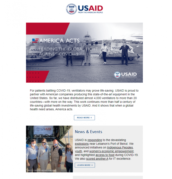 Click to read the August 27, 2020 USAID Newsletter