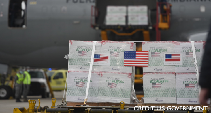 The United States Delivers COVID-19 Vaccine Doses to Colombia. Photo Credit: U.S. Government