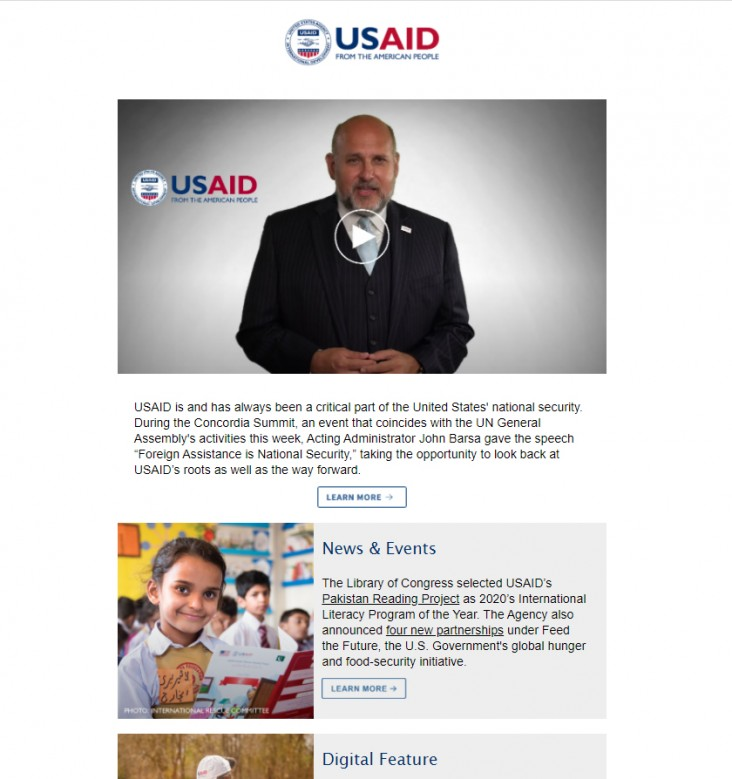 Click to read the September 24, 2020 USAID Newsletter