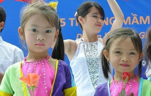 Celebrating girls at a USAID-sponsored event in Vietnam.  Photo: Richard Nyberg