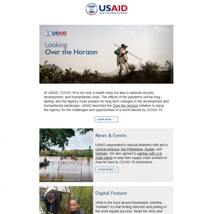 Click to read the November 19, 2020 USAID Newsletter