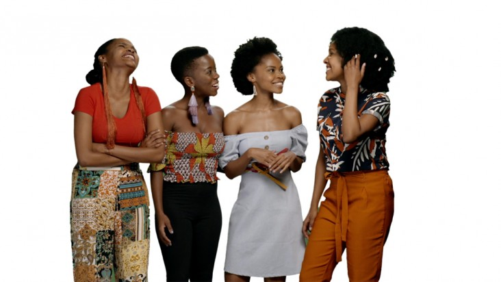 Actresses from the MTV series, Shuga: Down South, discuss HIV prevention options through the PrEP4Youth Campaign in South Africa in 2019.