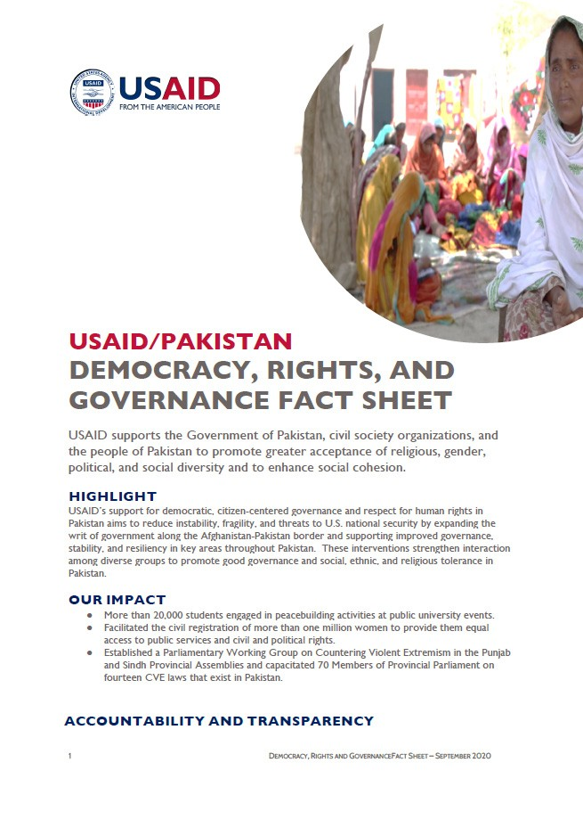 USAID/Pakistan Resilience Sector Fact Sheet