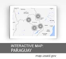 Interactive Map:  Paraguay map.usaid.gov
