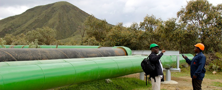 Workers in Kenya at the Geothermal Olkaria Plant. Photo: Carole Douglis