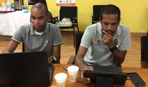 Peer data collectors reviewed research ethics and data collection methods during their training session in Trinidad last May.