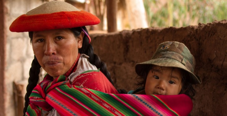 a mother and child from Peru