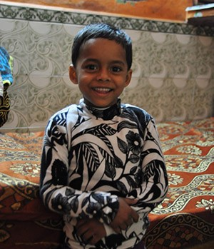 Raj is a 5-year-old recovered TB patient