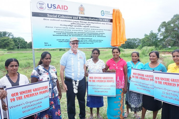Mr. Reed Aeschlimann, Mission Director of the United States Agency for International Development (USAID) for Sri Lanka and Maldives, handed over a renovated irrigation canal to the farming community of Wijeyapura, Moneragala on October 22, 2019.