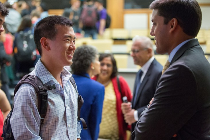 Rajiv Shah, Administrator for USAID, visits the Ford School of Public Policy. September 28, 2012
