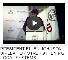 President Ellen Johnson Sirleaf on Strengthening Local Systems