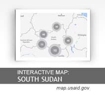 Interactive Map: South Sudan map.usaid.gov