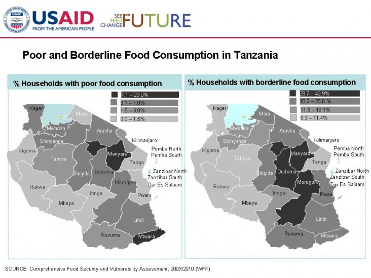 Poor and Borderline Food Consumption in Tanzania