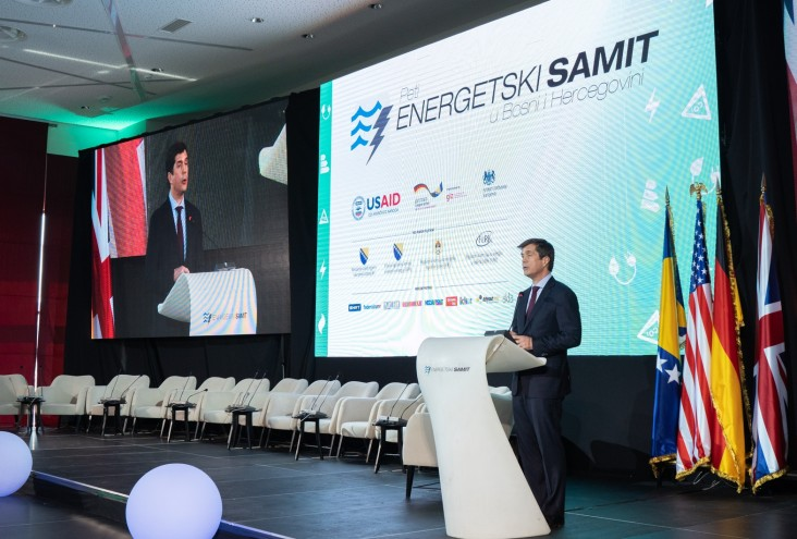 U.S. Ambassador Eric Nelson addressing the 5th BiH Energy Summit in Neum (April 2019).