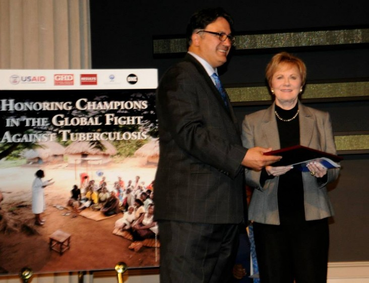 Representative Kay Granger (Texas – 12th district) accepts her TB Champion award. — at Corcoran Gallery of Art.