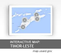 Interactive Map:  Timor Leste map.usaid.gov