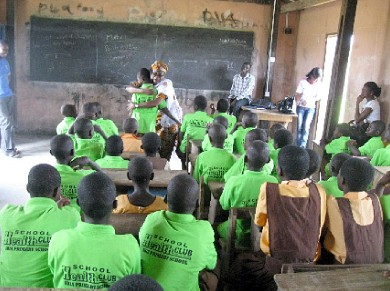 Hygiene club meeting at Shia Primary School, Talensi-Nabdam District of Ghana