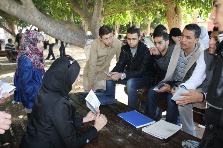 Gender Awareness Campaign - Female students lead a discussion in Tripoli
