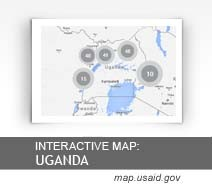 Interactive Map: Uganda map.usaid.gov