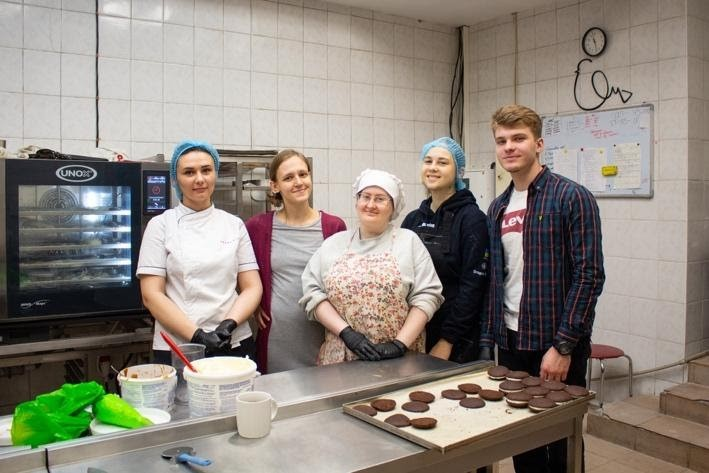 Sofia and her team at the March&Co Bakery