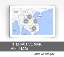 Interactive Map:  Vietnam map.usaid.gov