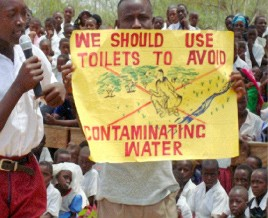 children share experiences on good sanitation and hygiene practices