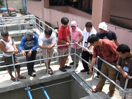 City of Manila engineering office staff is trained on the operations and maintenance of the treatment plant
