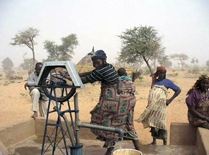 With new rope pumps like this one, thousands of villagers in Niger have more convenient access to safe drinking water.
